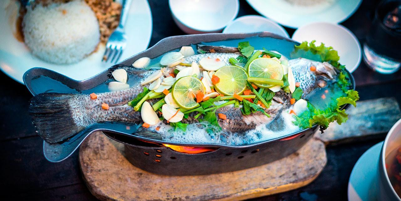 Frischer Fisch Zubereitung
